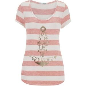 Maurices Striped Graphic Knit Tee